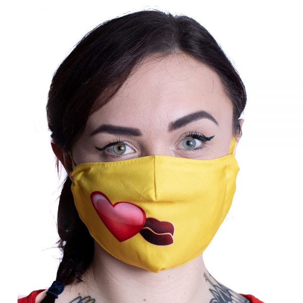 Single Emoji Kiss Mask