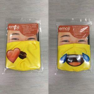 Emoji Masks kiss and crylaugh